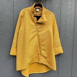 BALA BALA Mustard Gold Yellow Blazer Jacket NWHT S